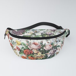 Adolphe Millot - Fleurs C - French vintage poster Fanny Pack