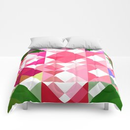 Pink Roses in Anzures 2 Abstract Triangles 1 Comforters