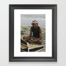 Musician in Bali Framed Art Print