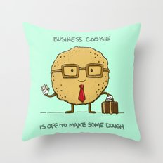 The Business Cookie Throw Pillow