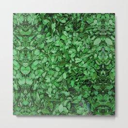 green tea matcha botanical pattern Metal Print