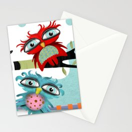 TWO OWLS CHILLING IS FABULOUS Stationery Cards