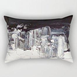 Flatline - black & white abstract painting Rectangular Pillow