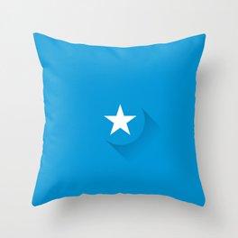 Minimal Somalia Flag Throw Pillow