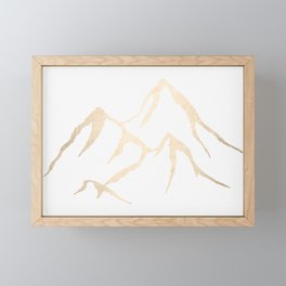 Adventure White Gold Mountains Framed Mini Art Print