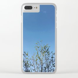 Sunlit Tree Clear iPhone Case