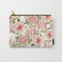 old fashioned peonies Carry-All Pouch