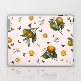 Oranges and Butterflies in Blush Laptop & iPad Skin