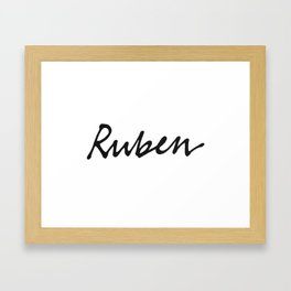 Ruben mug Framed Art Print