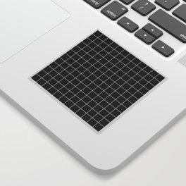 Grid Simple Line Black Minimalist Sticker