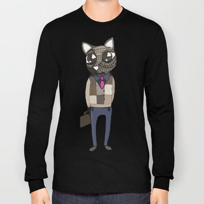 Working Cat - by Tori Long Sleeve T-shirt
