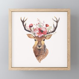 Bohemian Deer Framed Mini Art Print