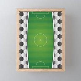 Soccer Football Field Framed Mini Art Print