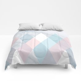 Diamond Peaks on Marble Comforters
