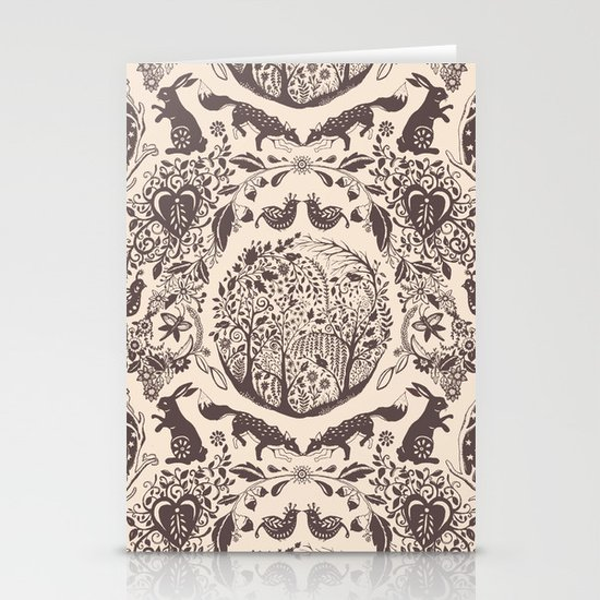 Forest Pattern Stationery Cards