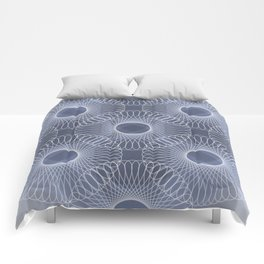Circled in Shades of Sapphire Blue Comforters