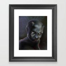 Demonoid Girl Portrait Framed Art Print