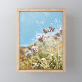 Purple Wildflower Field Framed Mini Art Print