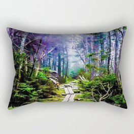 Misty Mountain Path Rectangular Pillow