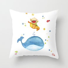 Baby whale Throw Pillow