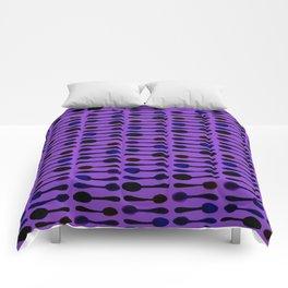 Purple Spoon Print! Comforters