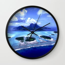Bora Bora Island Tropical Paradise Wall Clock