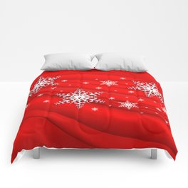 Abstract background with snowflakes Comforters