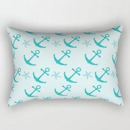 AFE Mint Anchors Rectangular Pillow