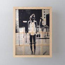 City walker Framed Mini Art Print