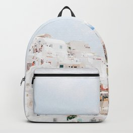 Beautiful Candy Colored Santorini City Scene Backpack