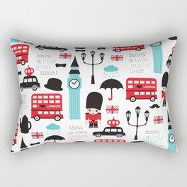 London icons illustration pattern print Rectangular Pillow