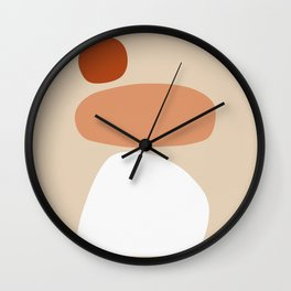 Abstract Shape Series - Stacking Stones Wall Clock