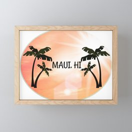Maui, Hawaii Sunset Framed Mini Art Print