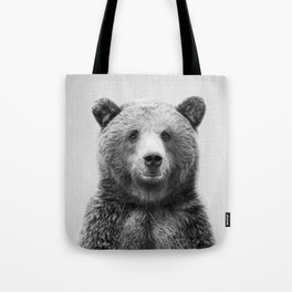 Grizzly Bear - Black & White Tote Bag
