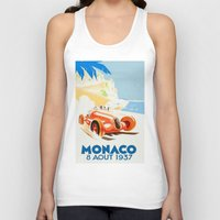 grand theft auto Tank Tops featuring Grand Prix Monaco 1937 by aapshop