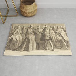 Jacques Callot - The Marriage of Ferdinando and Christine of Lorraine Rug