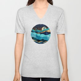 Indigo Desert Night Unisex V-Neck