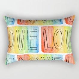 Rainbow Love Rectangular Pillow
