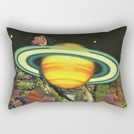 Love on Saturn Rectangular Pillow