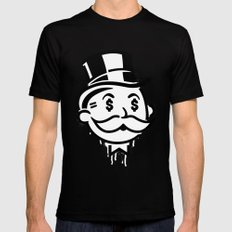 Another Day - Another Dollar Black Mens Fitted Tee MEDIUM