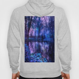 Enchanted Forest Lake Purple Blue Hoody