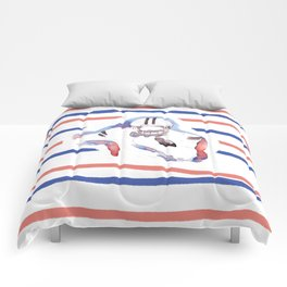 American football Player design - Watercolor Painting by #MahasWatercolor Comforters