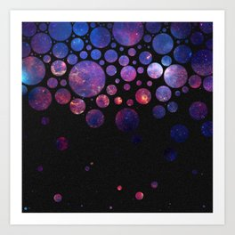 Space Bubbles Art Print