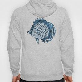 Fish coastal ocean blue watercolor Hoody