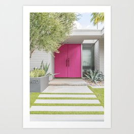 Magenta Pink Door in Palm Springs Art Print