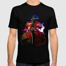 violin nebula Mens Fitted Tee Black LARGE