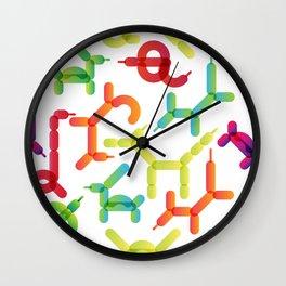 Balloon animals pattern #2 Wall Clock