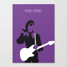 No031 MY BOWIE Minimal Music poster Canvas Print