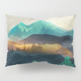 Green Wild Mountainside Pillow Sham
