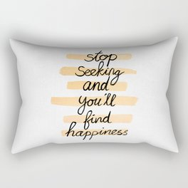 Seeking Happiness Rectangular Pillow